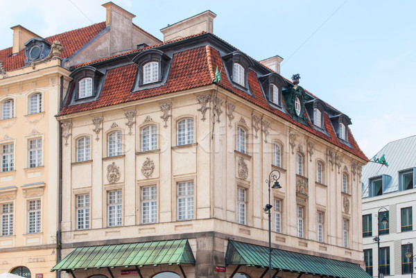 Warschau Polen augustus 19 huis oude binnenstad Stockfoto © Zhukow