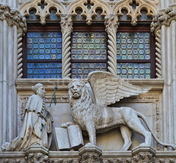 VENICE, ITALY architecture fragment Doge's Palace century Stock photo © Zhukow