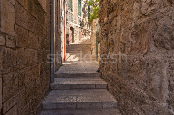 Ancient Alley in Jewish Quarter, Jerusalem Stock photo © Zhukow