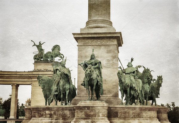 Heroes square in Budapest Stock photo © Zhukow