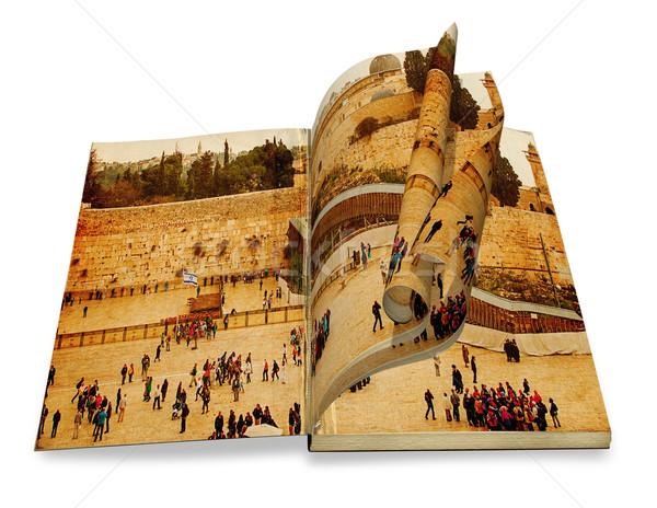 Eski kitap resim batı eski renk Stok fotoğraf © Zhukow