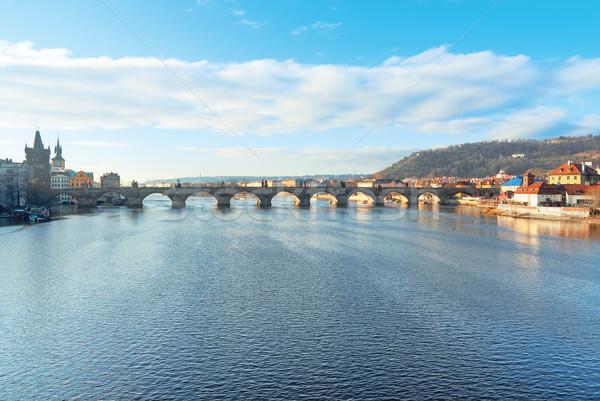 Charles Bridge and the Vltava River, Prague, Czech Republic Stock photo © Zhukow