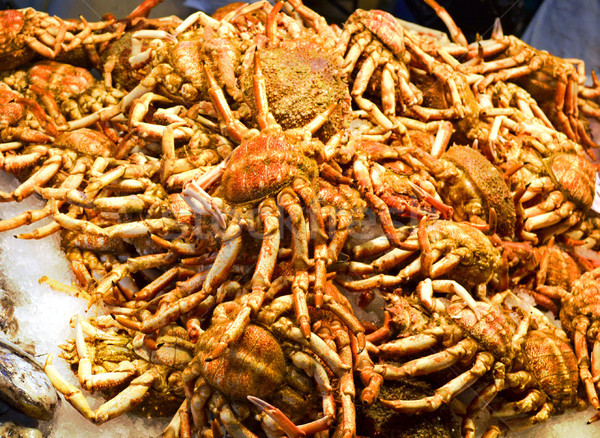 fresh-caught crabs, photographed in fish market Stock photo © Zhukow