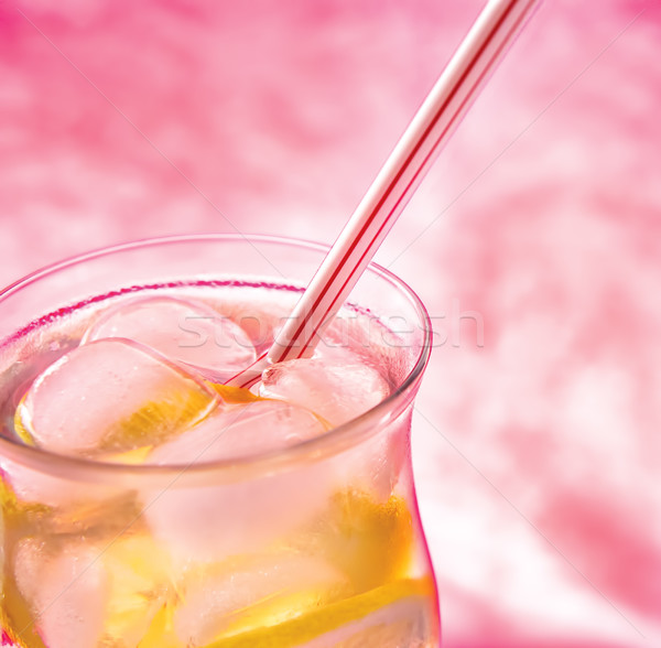 Froid fraîches limonade rose glace fruits Photo stock © Zhukow