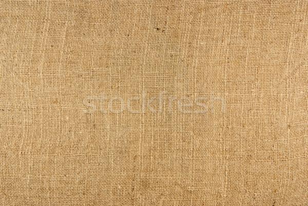 Arpillera textura primer plano resumen patrón textiles Foto stock © Zhukow
