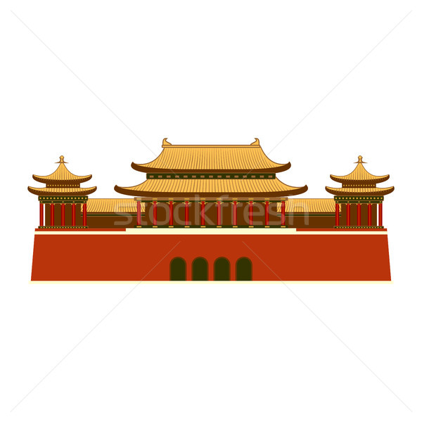 East Asian Building icon. Stock photo © Zhukow