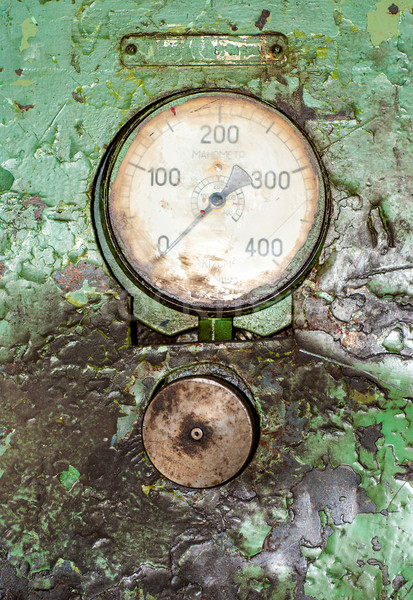 Old gauge panel in the oily Stock photo © Zhukow