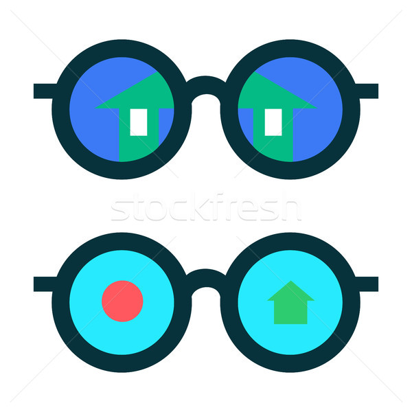 Glasses with the reflection Stock photo © Zhukow