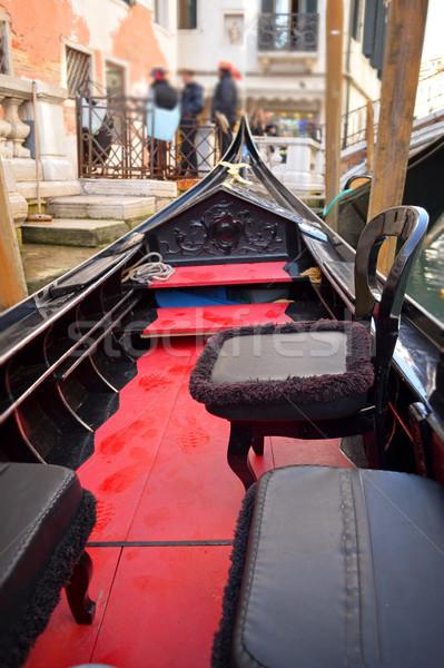 ベニスの 典型的な ボート ゴンドラ イタリア 水 ストックフォト © Zhukow