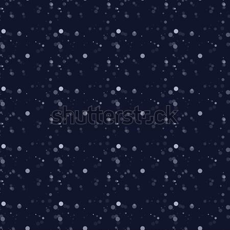 White snow falling on dark background Stock photo © Zhukow