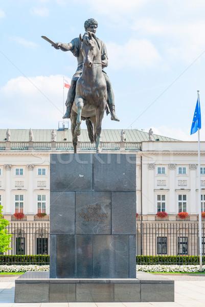 Foto d'archivio: Polonia · Varsavia · presidenziale · palazzo · cielo · città