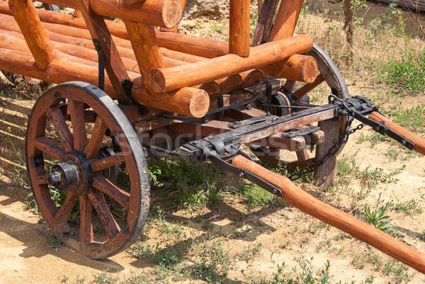 Eski ahşap araba amerikan alan seyahat Stok fotoğraf © Zhukow