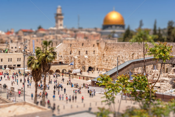 The Western Wall of the Temple and the Mosque of Omar. Stock photo © Zhukow