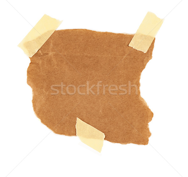 Stock photo: cardboard piece isolated on white background
