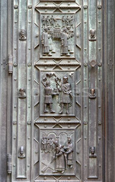 Saint Vitus cathedrale door decoration fragment Stock photo © Zhukow