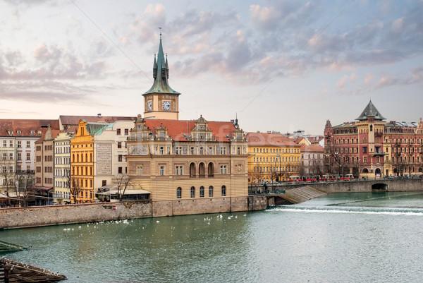 Prague. Vltava. Czech Republic. View from Charles Bridge Stock photo © Zhukow