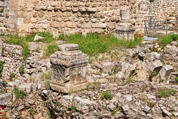 Ruins Temple of Serapis in Jerusalem Stock photo © Zhukow