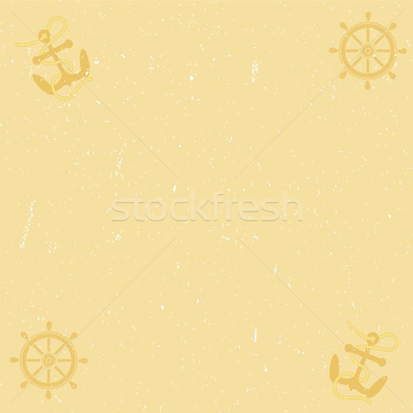 Yellow paper background with scratches Stock photo © Zhukow