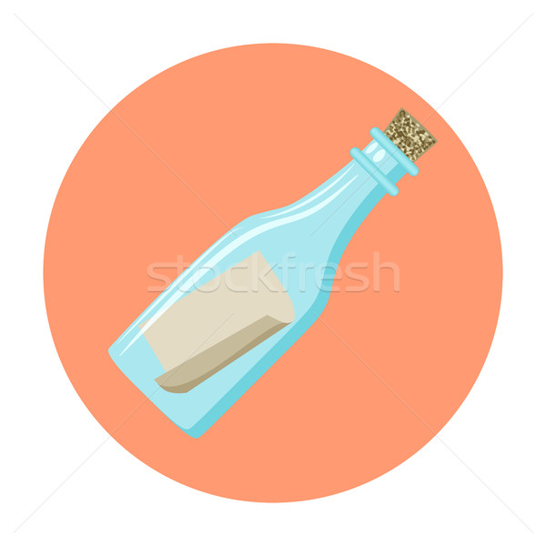 Message in a bottle Icon. Stock photo © Zhukow