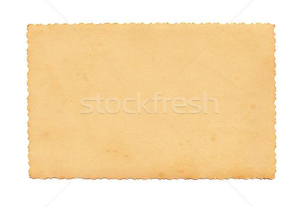 Régi fotó fehér klasszikus textúra papír absztrakt Stock fotó © Zhukow