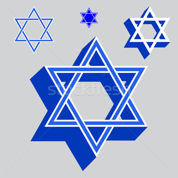 Vector illustration Star of David Stock photo © Zhukow