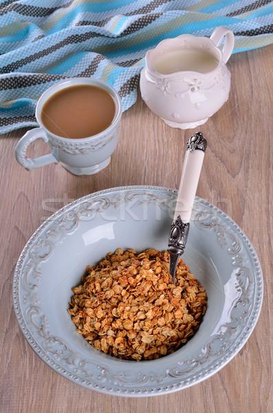 Dietetico avena blu piatto alimentare Foto d'archivio © zia_shusha