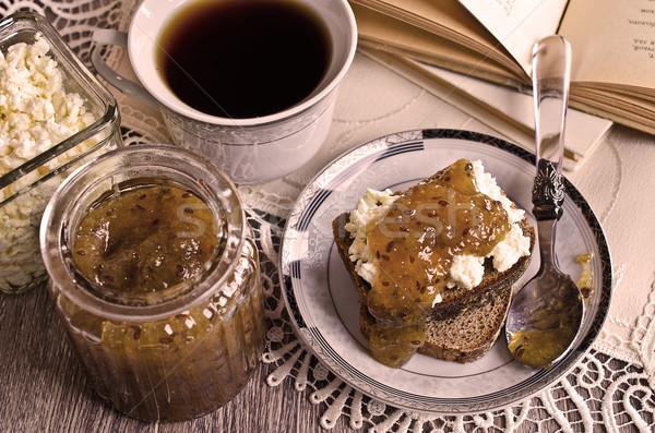 Sandwich with jam Stock photo © zia_shusha
