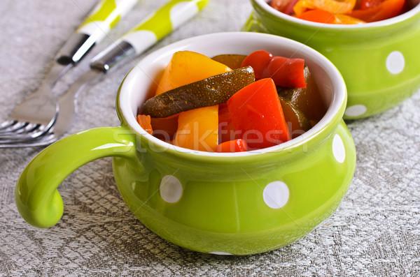 Cooked peppers and zucchini Stock photo © zia_shusha