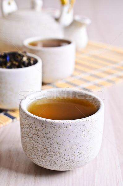 Copo chá líquido luz chinês tipo Foto stock © zia_shusha