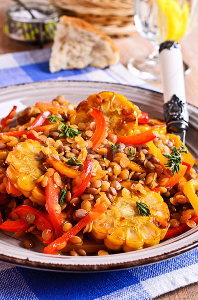 Lentils with paprika and corn Stock photo © zia_shusha