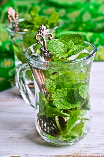 Tea with mint Stock photo © zia_shusha