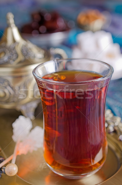 Chá tradicional festa árabe datas doces Foto stock © zia_shusha