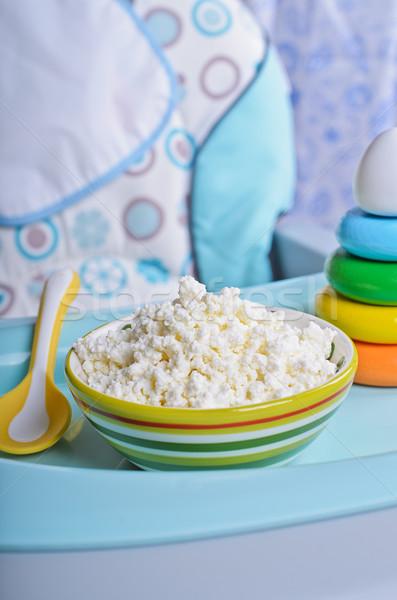 Zuivelproduct vorm voedsel jonge kinderen voorjaar Stockfoto © zia_shusha
