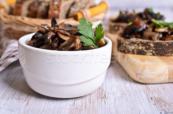 Salade champignons sandwiches groene brood Stockfoto © zia_shusha