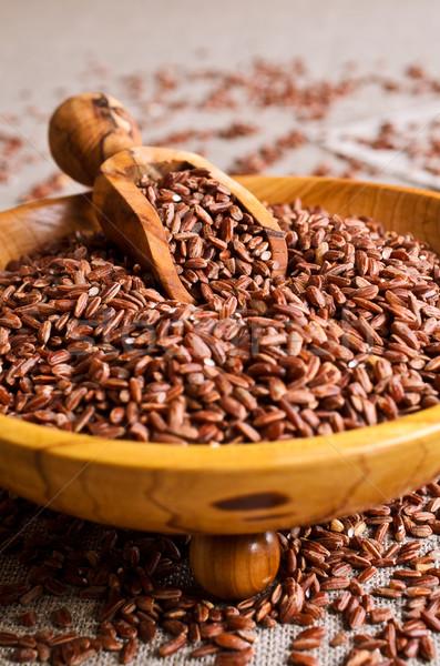 Stock photo: Brown rice