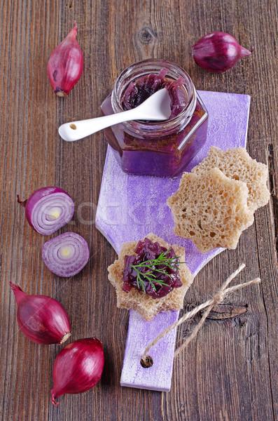 onion marmalade Stock photo © zia_shusha
