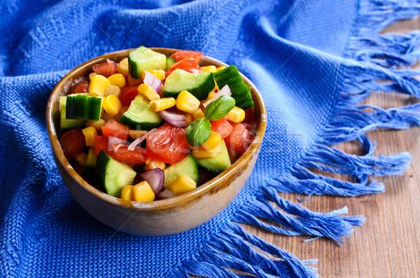 Salade légumes frais céramique plat santé été Photo stock © zia_shusha