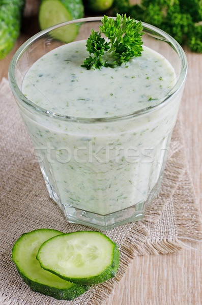 Drink from cucumber Stock photo © zia_shusha