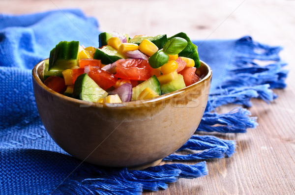 Insalata verdure fresche ceramica piatto salute estate Foto d'archivio © zia_shusha