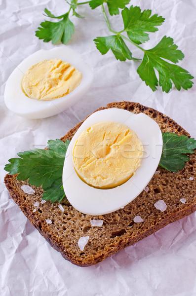 Half boiled egg Stock photo © zia_shusha