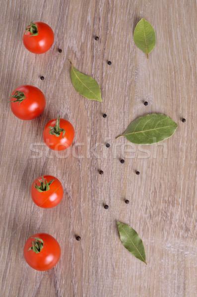 Groenten kant houten oppervlak zwarte vers Stockfoto © zia_shusha