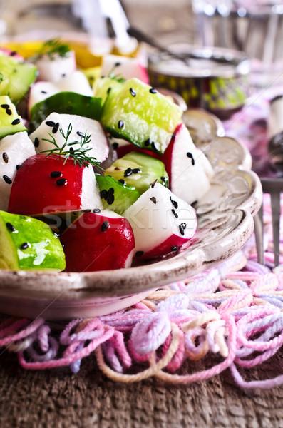 Salada rabanete pepino saúde Óleo Foto stock © zia_shusha