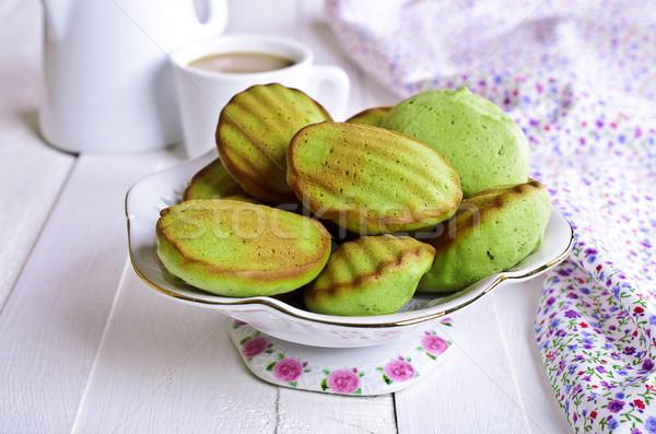 Zielone ciasto proszek herbaty Zdjęcia stock © zia_shusha
