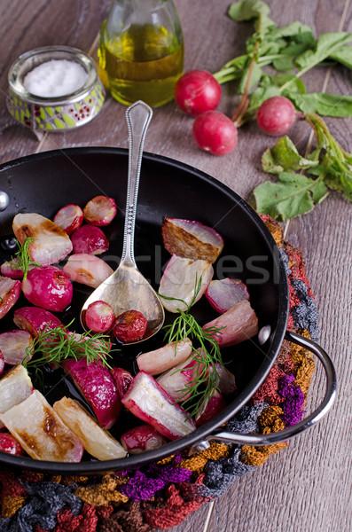Retek főtt pörkölt retek űrlap étel Stock fotó © zia_shusha