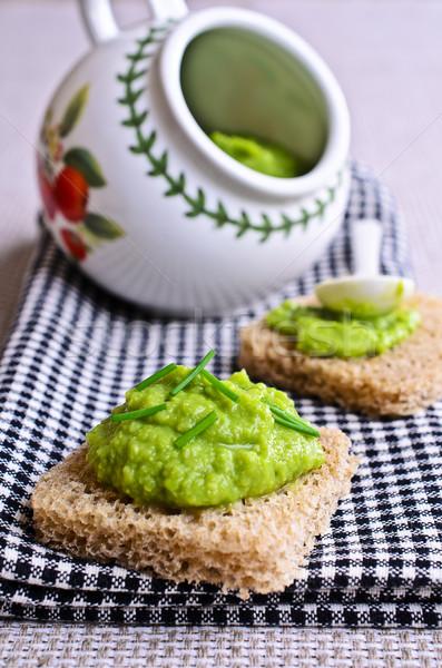 Foto stock: Sándwich · verde · patatas · pan · brindis · desayuno