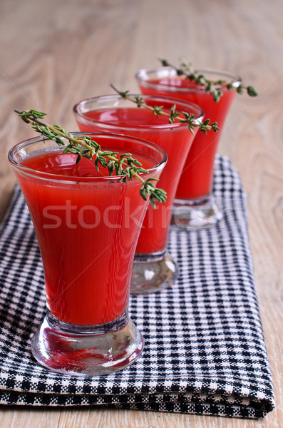 Koktél piros vörösbor szemüveg áll szalvéta Stock fotó © zia_shusha