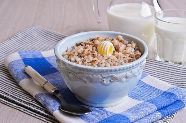 Cerâmico prato peça manteiga comida leite Foto stock © zia_shusha