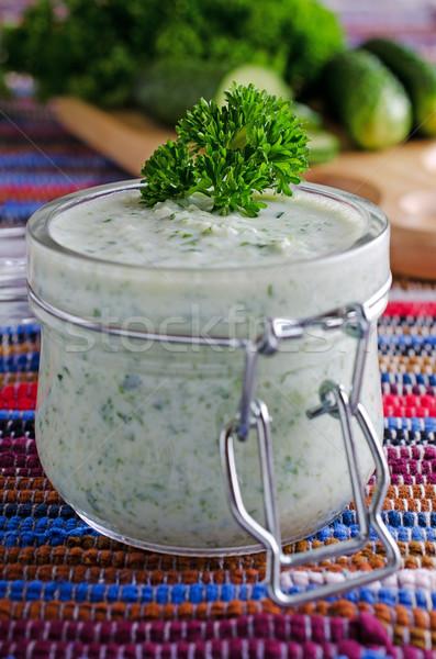 Soup of cucumber Stock photo © zia_shusha