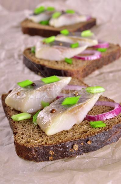 Sliced herring  Stock photo © zia_shusha