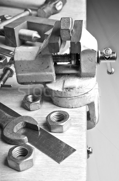 The vise to clamp on the desktop Stock photo © zia_shusha